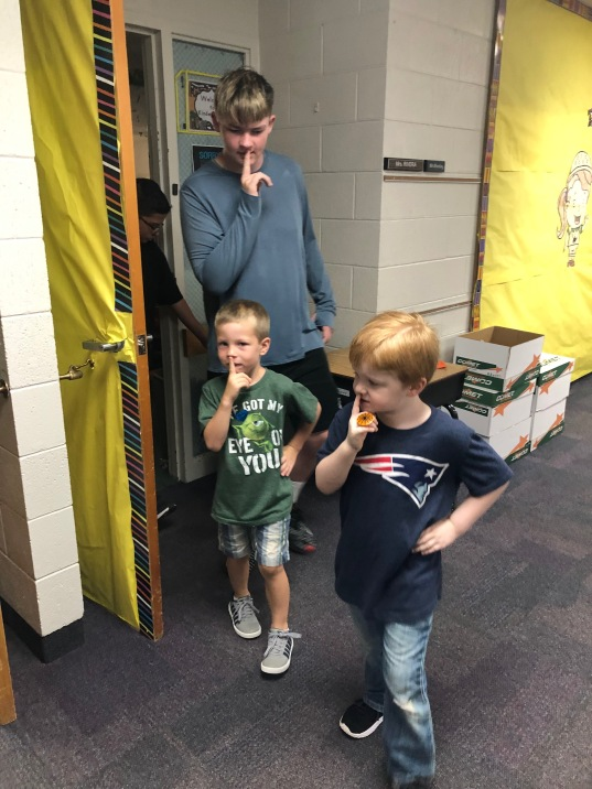 Teaching hall way behavior