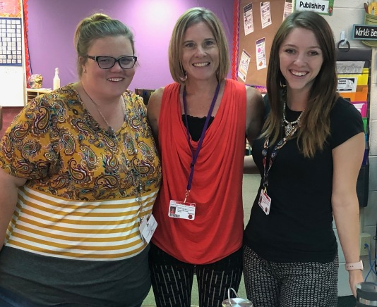 Mrs. Montoya (center) with her team: Mrs. Veatch and Mrs. Brown