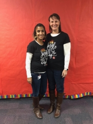 Mrs. Meek and Mrs. Brantley are twinning